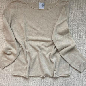 Pure Cashmere Boat Neck Sweater - PALE CAMEL