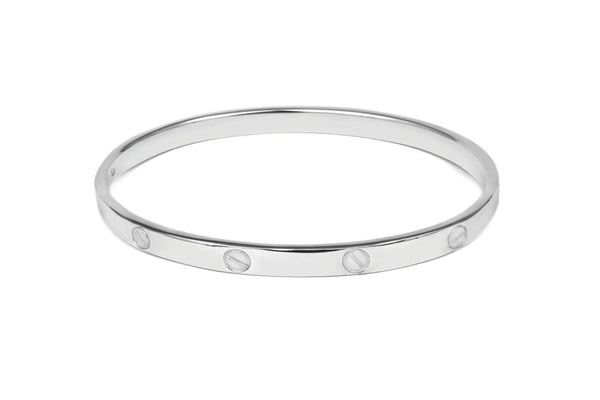 Cartier Style  Solid Sterling Silver Bangle