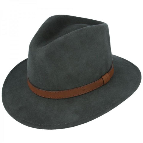 Wool Fedora Hat - Army Green