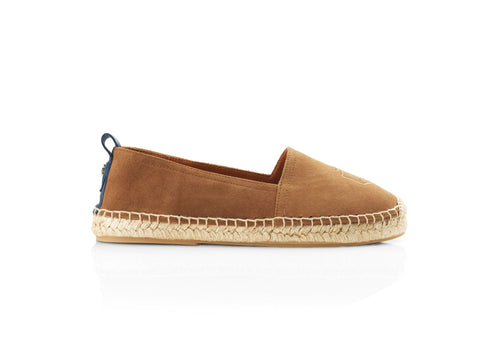 THE MONACO FLAT TAN ESPADRILLE - Fairfax & Favor