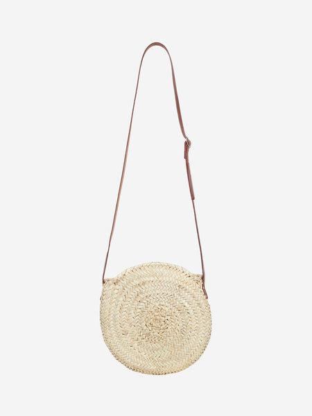 The Framlingham (Walnut) Small Round Basket Bag - Henrietta Spencer