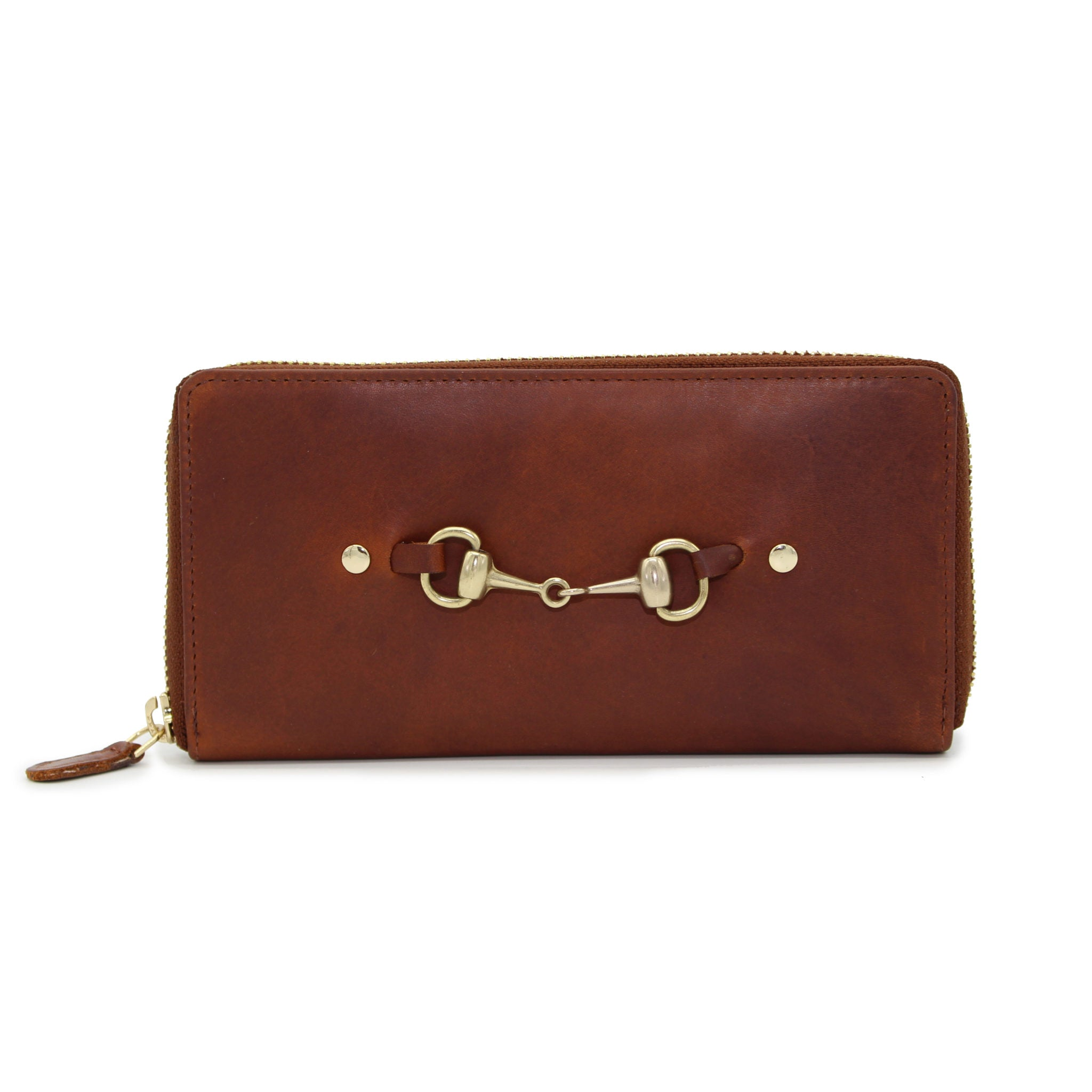 Chedworth Zip Around Bit Purse Cognac - Hicks & Hides