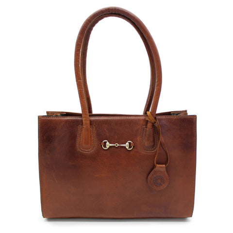 Chedworth Bit Handbag Cognac - Hicks & Hides