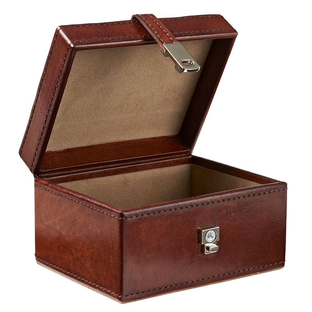 Leather Stud Keepsake Box