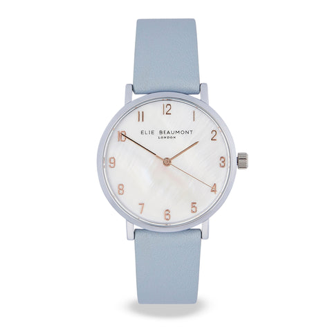 Elie Beaumont - FITZROVIA POWDER BLUE Watch