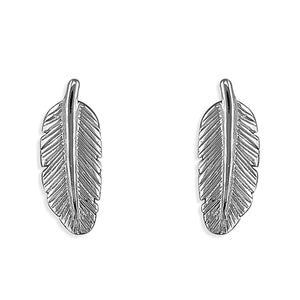 Sterling Silver Feather Stud Earring