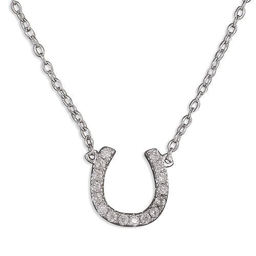 Sterling Silver Horseshoe Pendant on Silver Chain