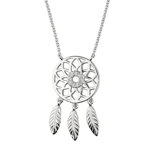 Sterling Silver Dreamcatcher Pendant on Chain
