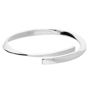 Sterling Silver Bangle Heavy twisted hinged cuff