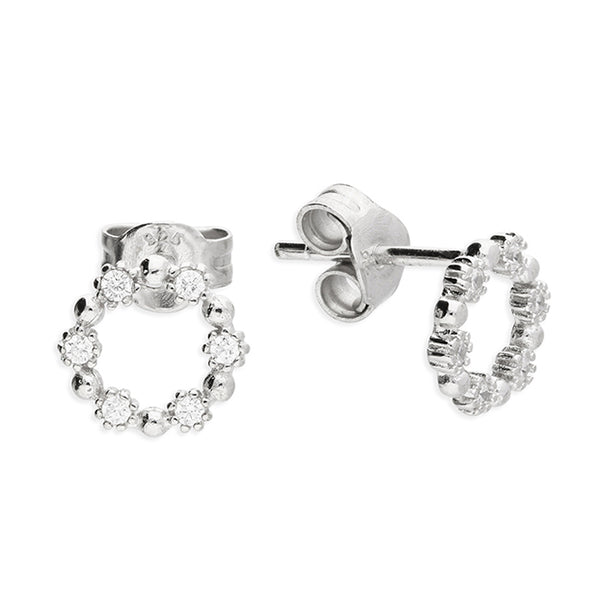 Sterling SIlver Open Circle Stud Earring