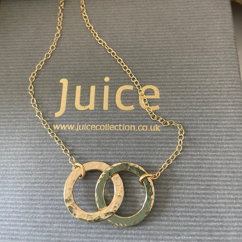 Gold Circle of Life Entwind Necklace
