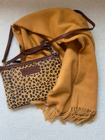 Luxury Cashmere Mix Scarf - Autumn Gold