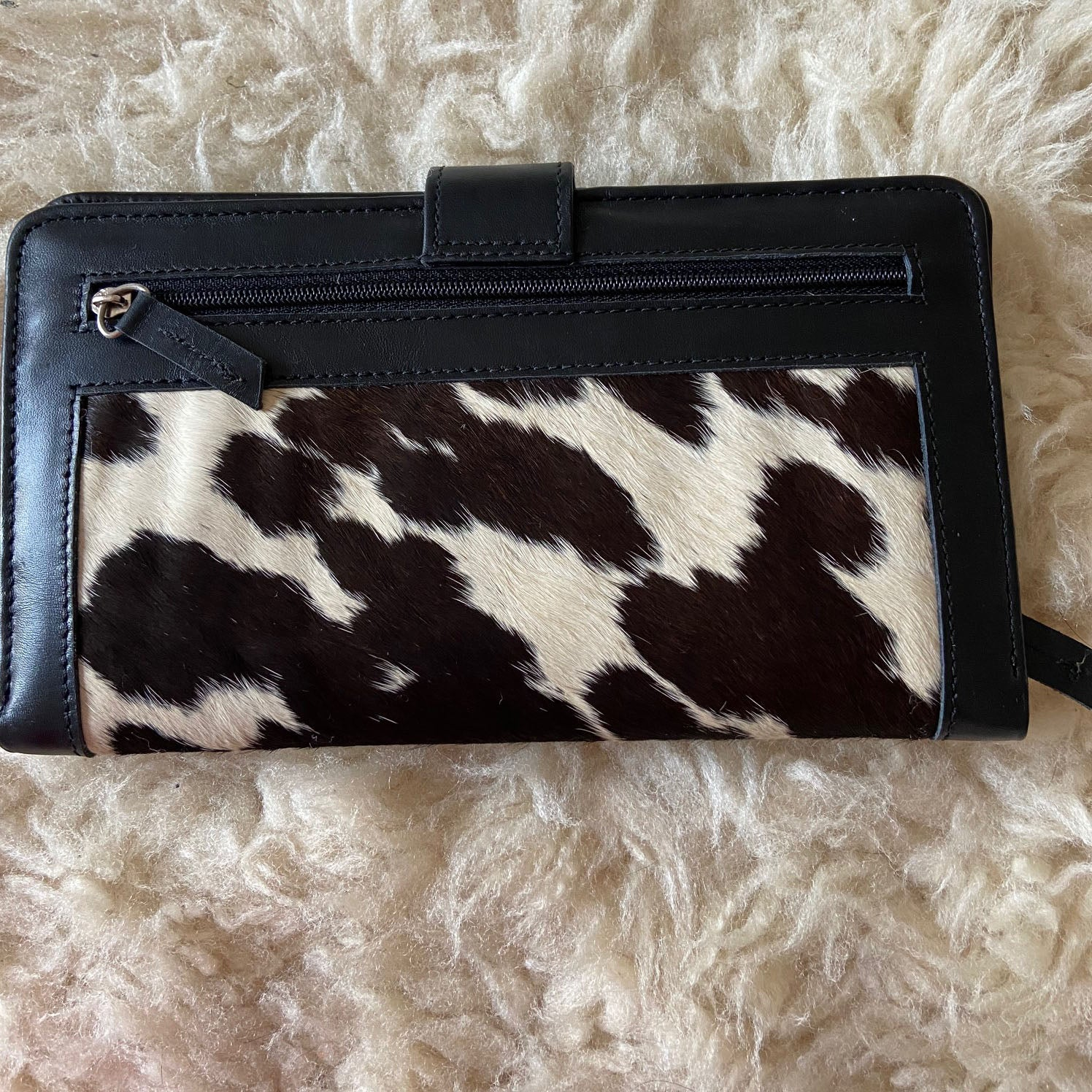 The Brockhampton Leather Cowhide Wallet by Juice - Black