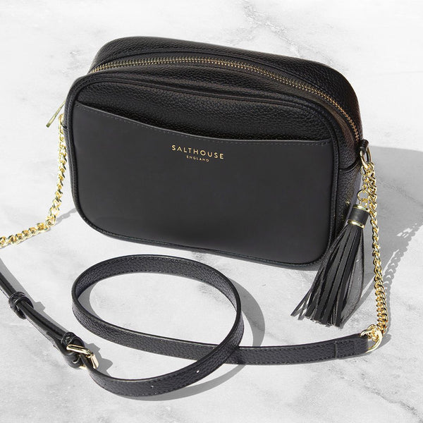 Adira Cross Body Bag – Beautiful Black by Salthouse England