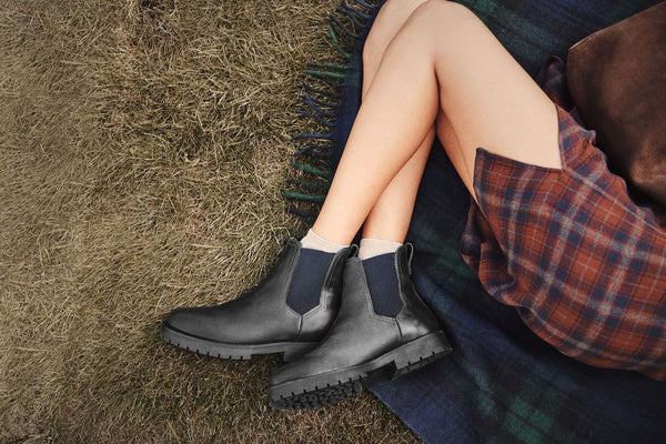 THE SHEEPSKIN BOUDICA BLACK SHEARLING LINED BOOT - Fairfax & Favor