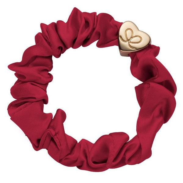 Silk Scrunchie with Gold Heart