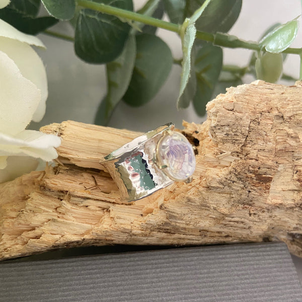 Rainbow Quartz Gemstone Ring