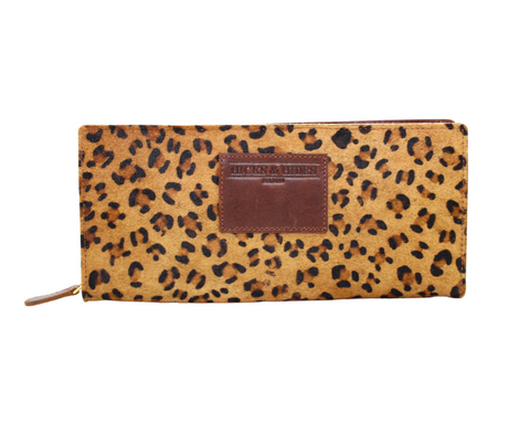 Leopard Zip Around Purse - Hicks & Hides