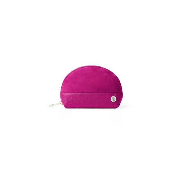 Chiltern FUSHIA Suede and Leather Coin Purse - Fairfax & favor