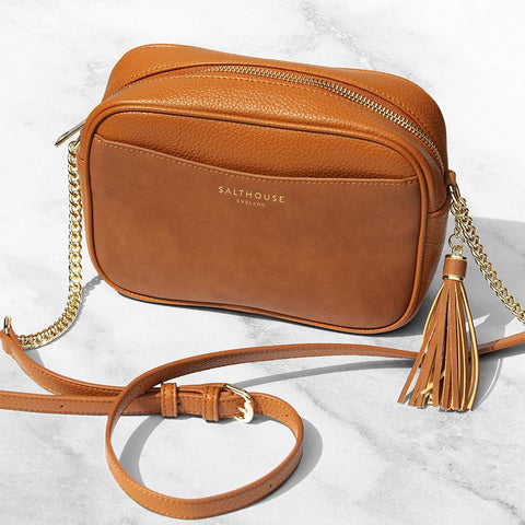 Adira Cross Body Bag – Tempting Toffee by Salthouse England