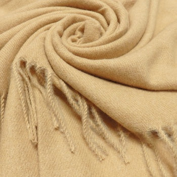 Luxury Cashmere Mix Scarf - Camel