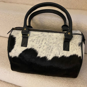 The Ledbury Leather Cowhide Juice Handbag -  Black