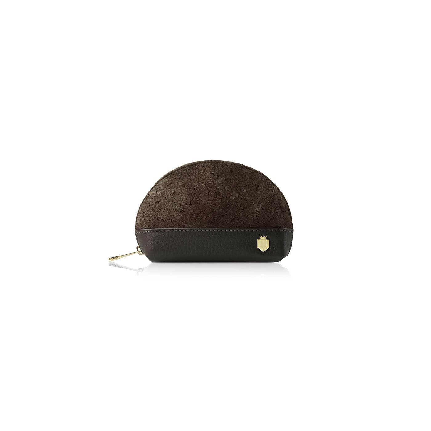 CHILTERN LEATHER & SUEDE COIN PURSE - Chocolate - Fairfax & Favor