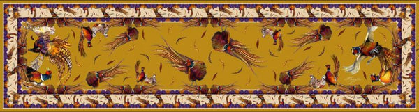 Classic George & Friends Gold Silk Scarf by Clare Haggas