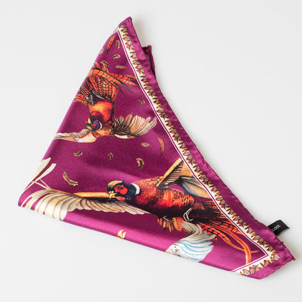 Mini Square Pocket Silk Scarf MULBERRY - Clare Haggas