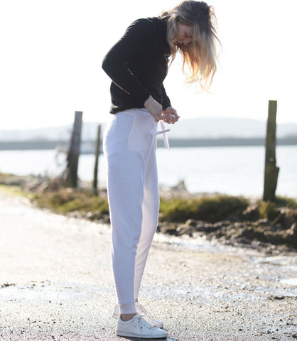 Cashmere Joggers - WINTER WHITE