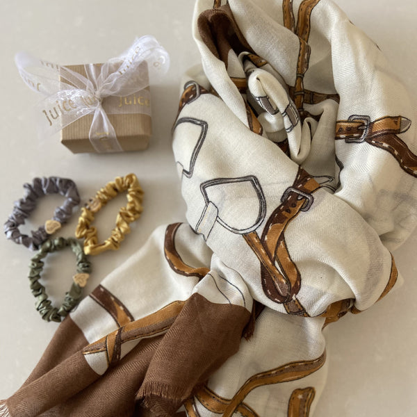 Equestrian Style Cotton Scarves