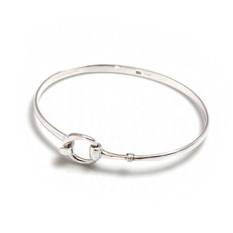 Snaffle Sterling Silver Bangle
