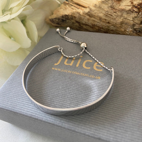 Sterling Silver Rhodium-plated Bracelet