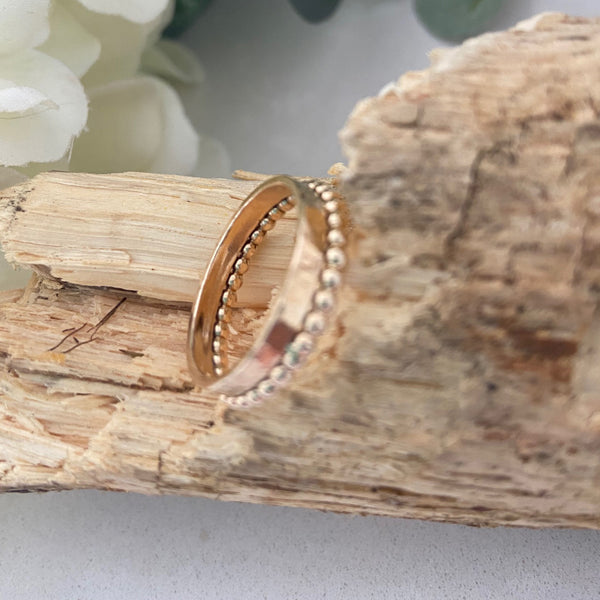 Rolled Gold Hammered Ring