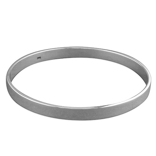 Simple Flat Slave Sterling Silver Bangle