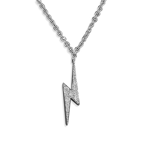 Sterling Silver Lightening Bolt Pendant on Silver chain