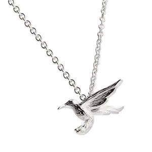 Sterling Silver Humming Bird Pendant and Chain