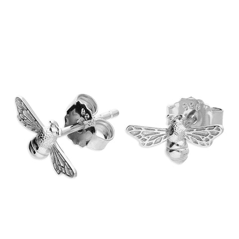Bee - Sterling Silver Stud Earrings