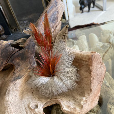 Feather Brooch - 6 inches