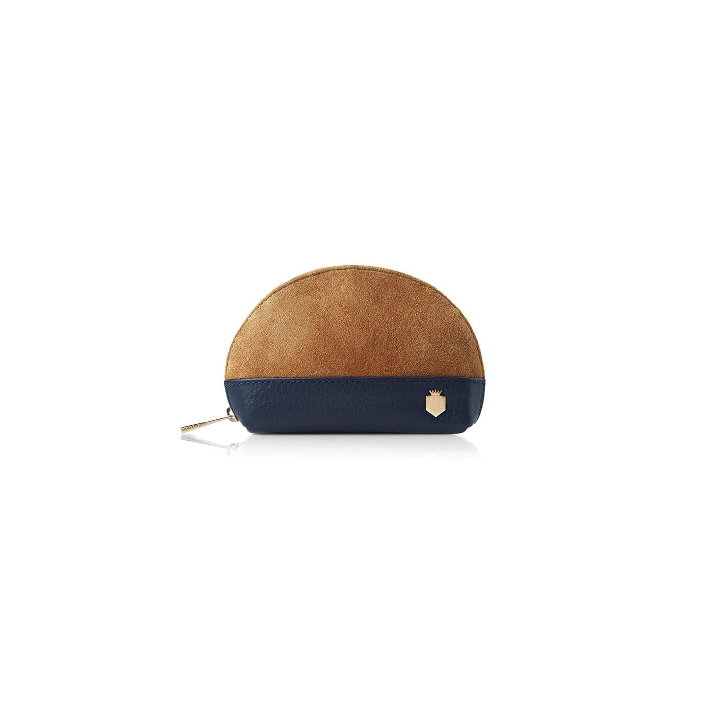 The Chatham II Tan & Navy Suede and Leather Coin Purse - Fairfax & favor