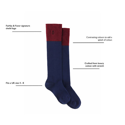 THE SIGNATURE KNEE HIGH SOCKS  - Fairfax & Favor