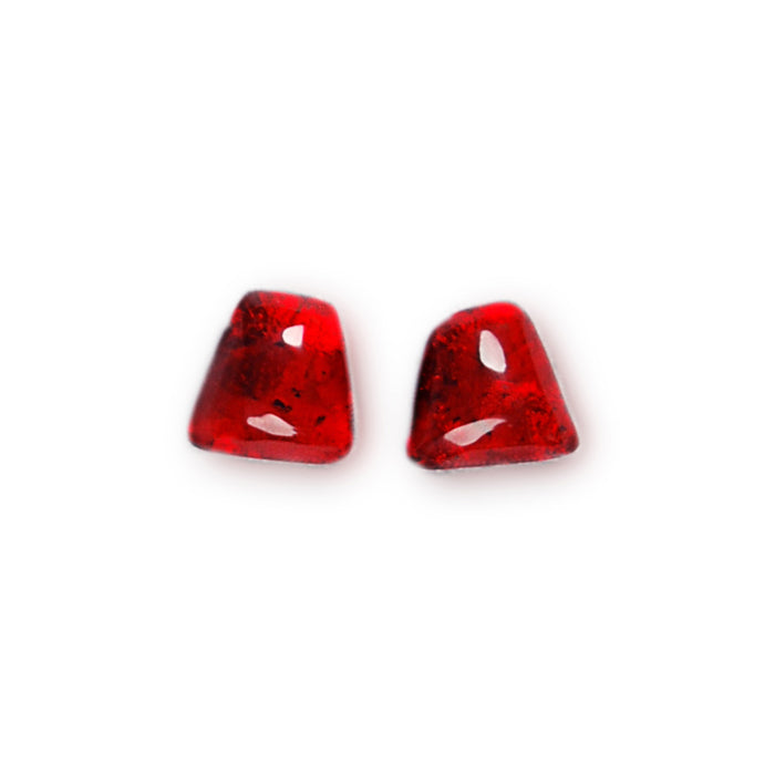 Scarlet Resin Stud Earrings