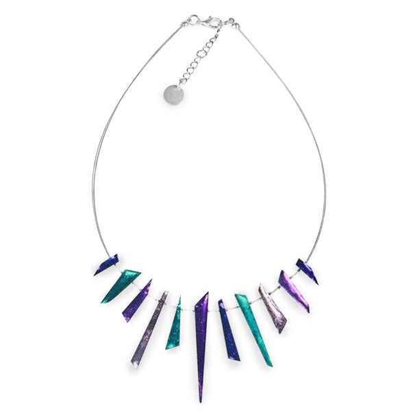 Peacock Icicle Necklace
