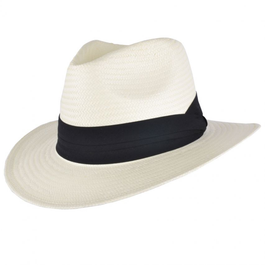 Paper Straw Panama Hat - Cream