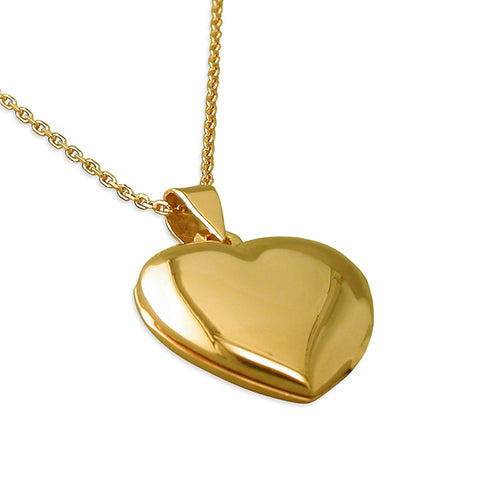 Yellow Gold-plated Heart Locket on Gold Chain