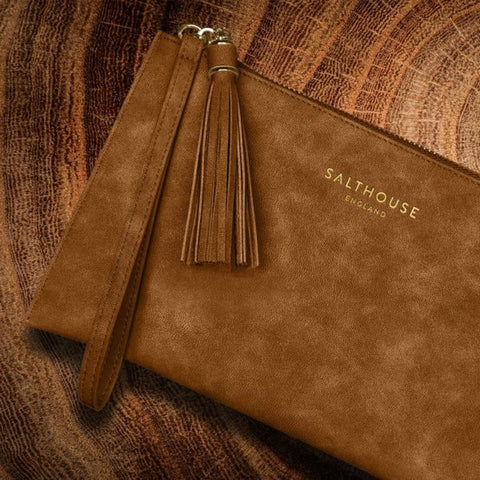 Serafina Clutch Bag in Tempting Toffee
