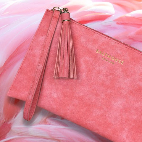 Serafina Clutch Bag in Coral Candy