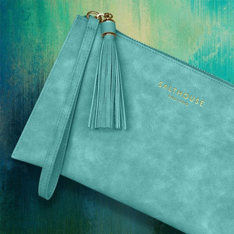Serafina Clutch Bag in Tropical Turquoise