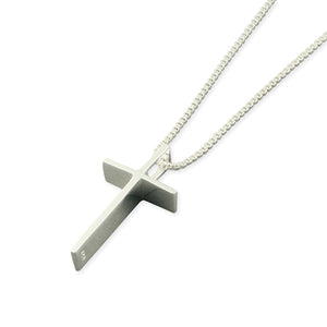 Sterling Silver Cross Pendant & Chain