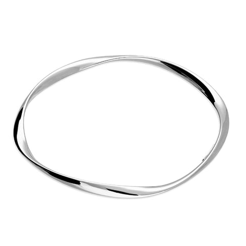 Sterling Silver Soft Twist Bangle